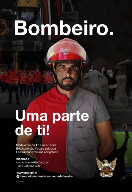 Recrutamento de Bombeiros Voluntários em Paços de Ferreira